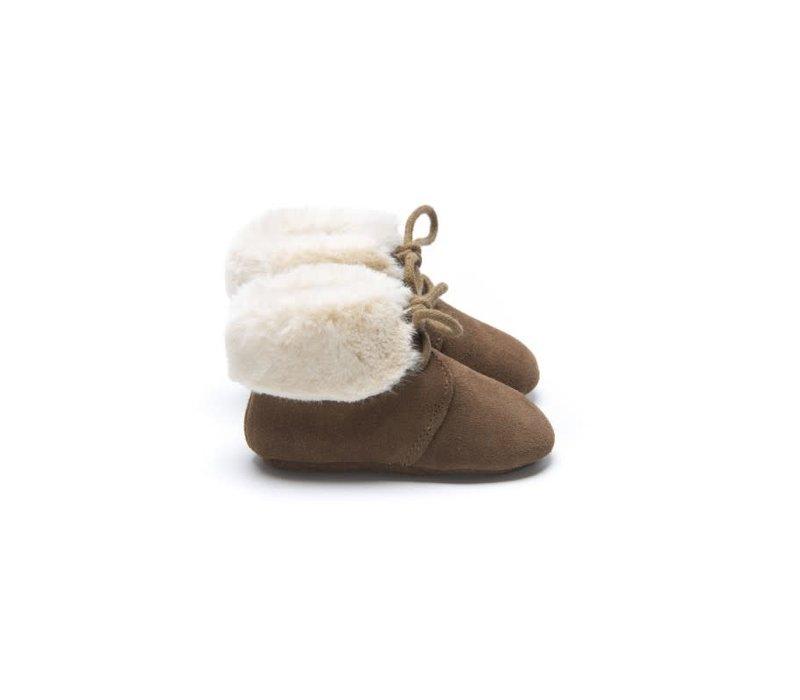 Mockies Fur Boots Brown