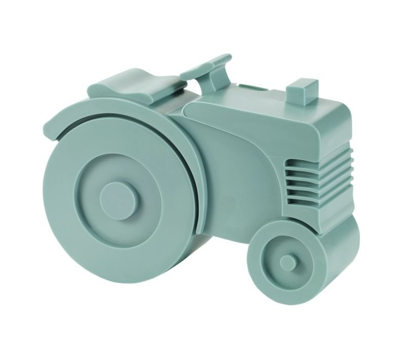 Blafre tractor broodtrommel blauw