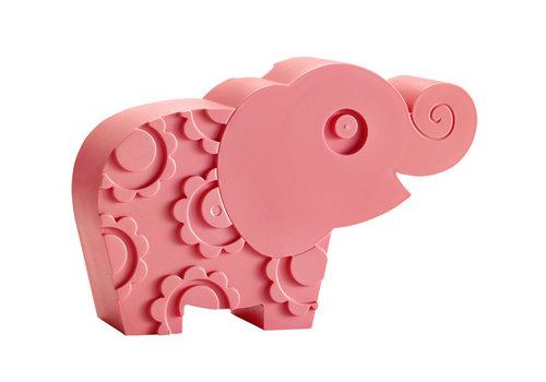 Blafre Blafre olifant broodtrommel roze