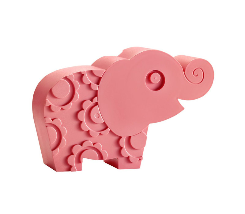 Blafre olifant broodtrommel roze