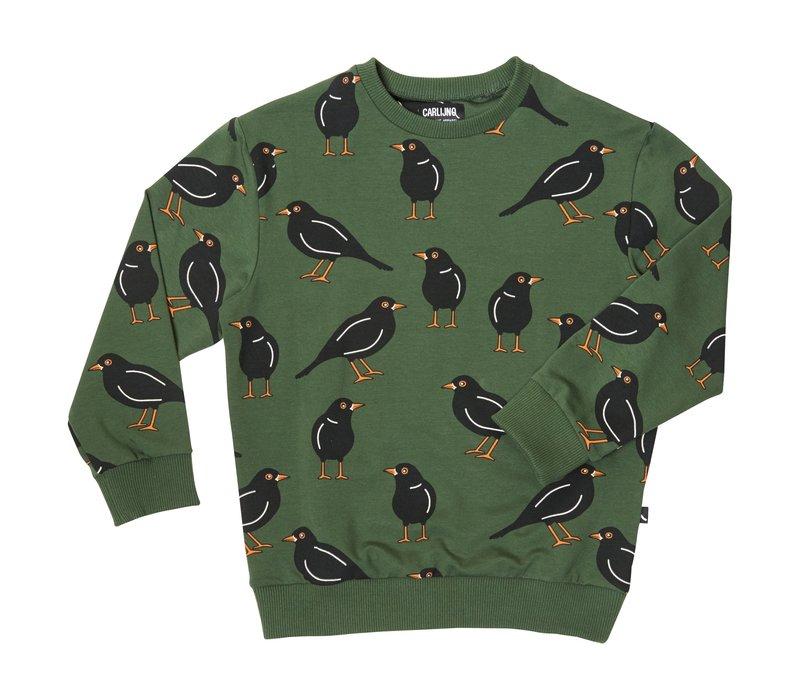 CarlijnQ black bird - sweater