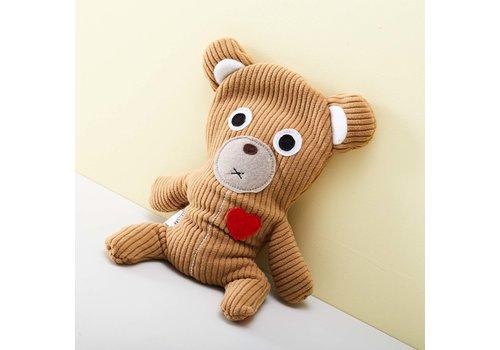 Bitten Bitten warmtekussen lichtbruine beer