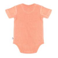 CarlijnQ Basics - romper shortsleeve (pink)