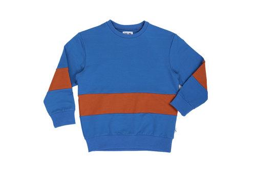 CarlijnQ CarlijnQ Basic sweats - sweater striped (blue + rust)