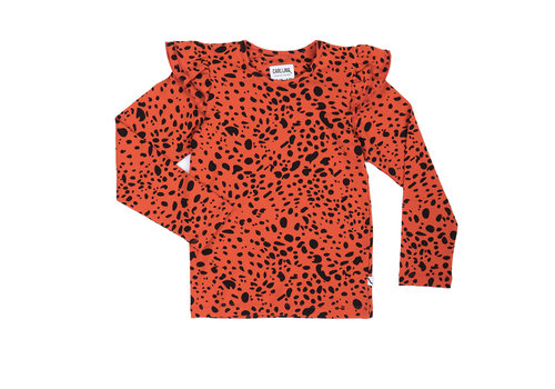 CarlijnQ CarlijnQ Spotted animal - ruffled longsleeve