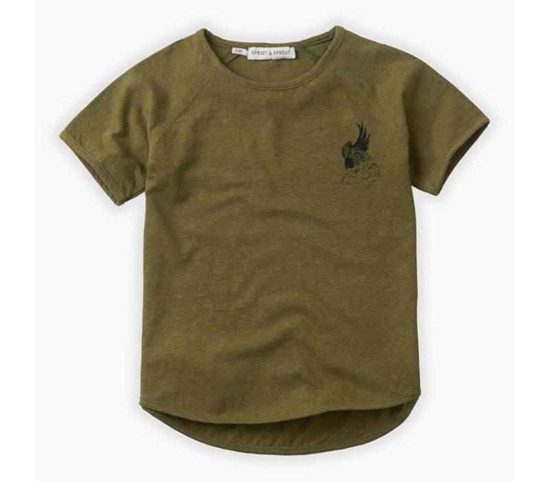 Sproet & Sprout T-shirt raglan Cockatoo Tropical green