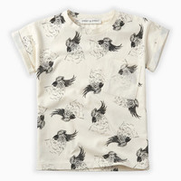 Sproet & Sprout T-Shirt print Cockatoo Summer white