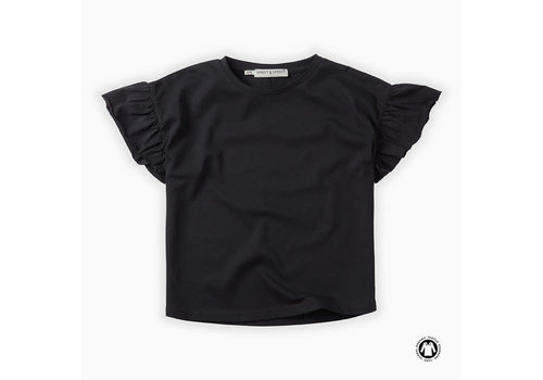 Sproet & Sprout Sproet & Sprout T-shirt Ruffle Asphalt