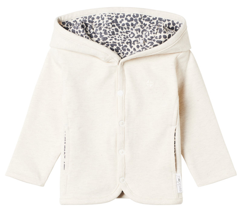 Noppies U Cardigan rev Amangu AOP Girl Oatmeal