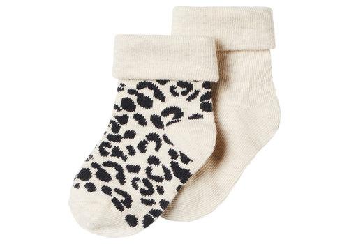 Noppies Noppies U Socks 2 PCK Blanquillo Girl Oatmeal