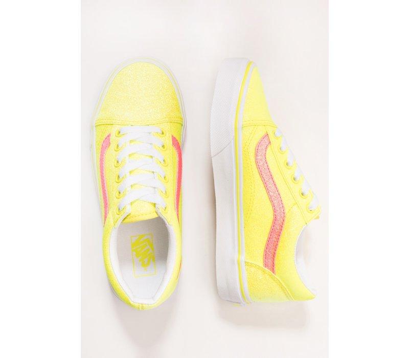 Vans Old Skool (neon glitter) Yellowtrwht