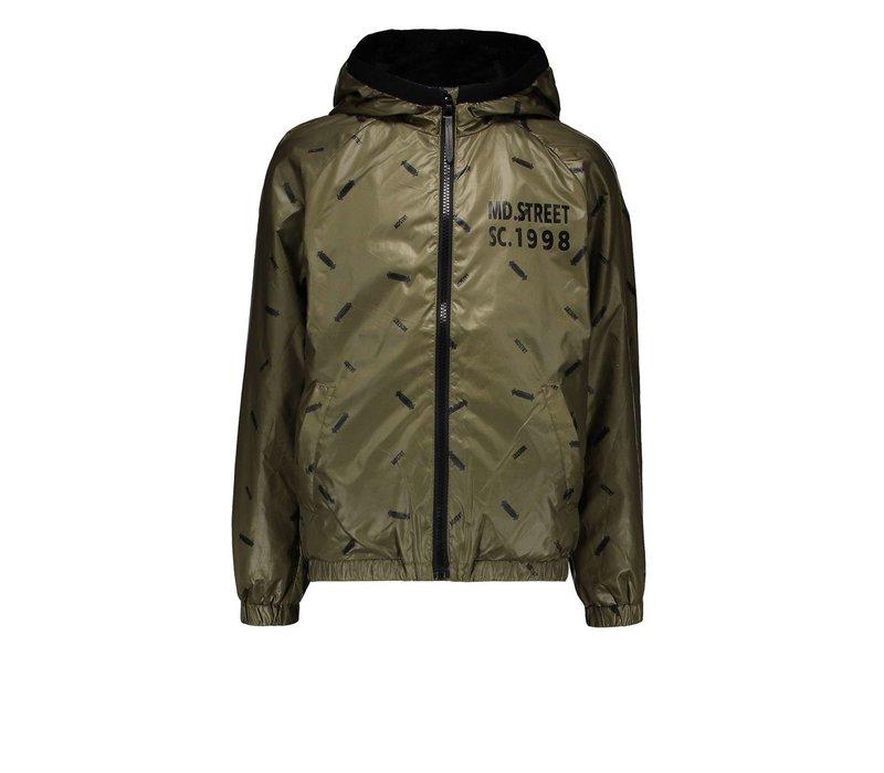 Moodstreet  jacket AOP skate Khaki
