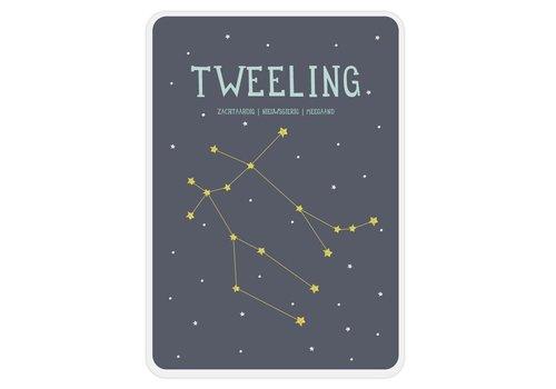 Milestone Milestone Zodiac Poster Card Tweeling