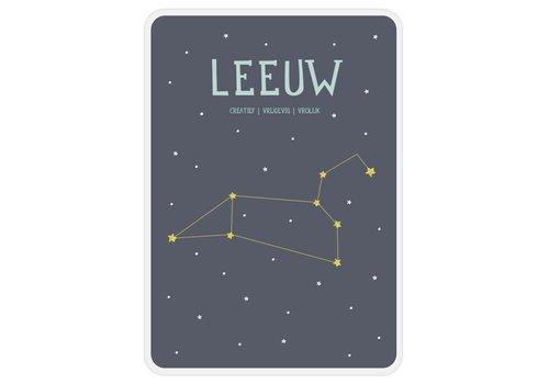 Milestone Milestone Zodiac Poster Card Leeuw