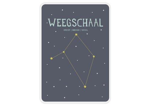Milestone Milestone Zodiac Poster Card Weegschaal