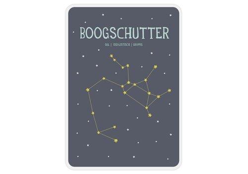 Milestone Milestone Zodiac Poster Card Boogschutter