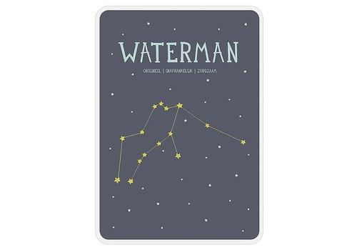 Milestone Milestone Zodiac Poster Card Waterman