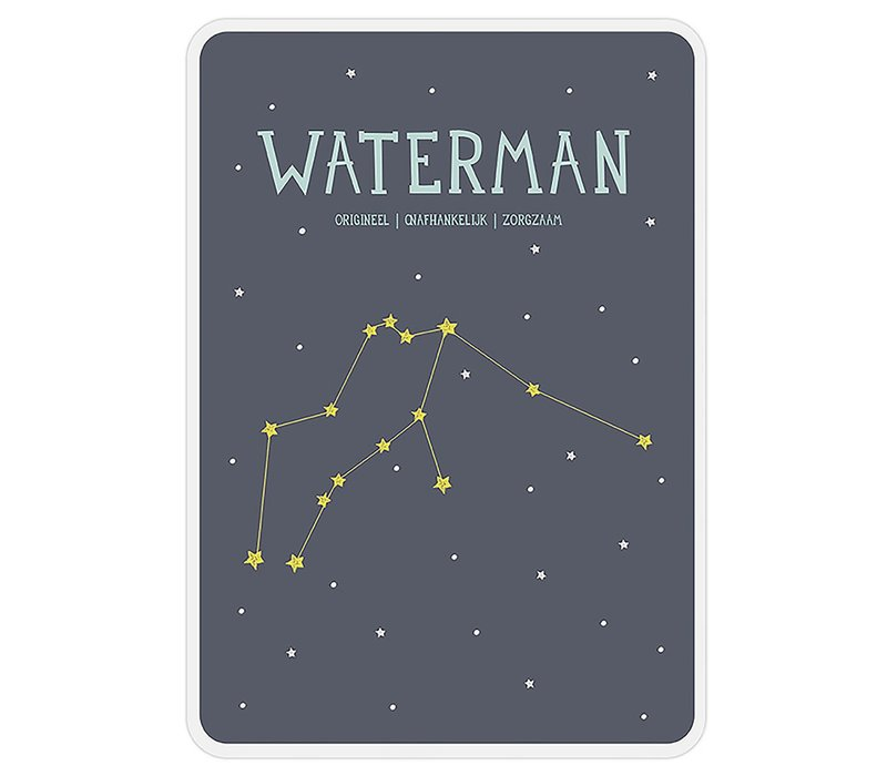 Milestone Zodiac Poster Card Waterman