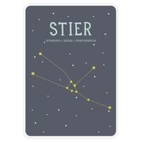 Milestone Zodiac Poster Card Stier