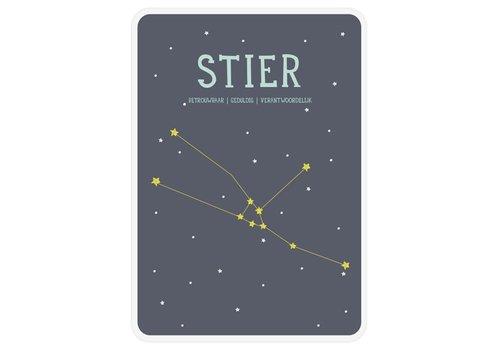 Milestone Milestone Zodiac Poster Card Stier