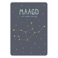 Milestone Zodiac Poster Card Maagd
