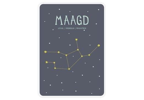 Milestone Milestone Zodiac Poster Card Maagd