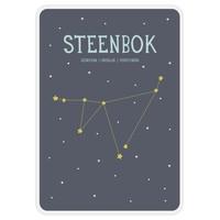 Milestone Zodiac Poster Card Steenbok