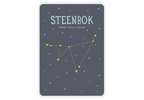Milestone Milestone Zodiac Poster Card Steenbok