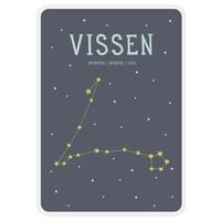 Milestone Zodiac Poster Card Vissen