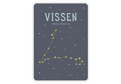 Milestone Milestone Zodiac Poster Card Vissen
