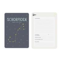 Milestone Zodiac Poster Card Schorpioen