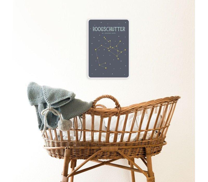 Milestone Zodiac Poster Card Boogschutter