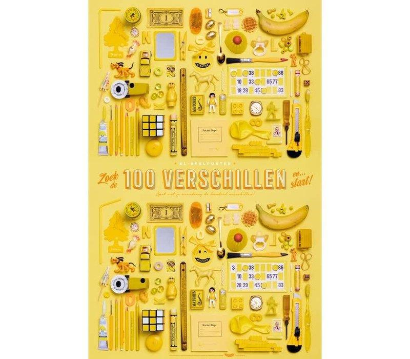 XL Poster 100 verschillen