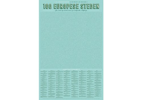 Stratier XL poster '100 Europese steden'