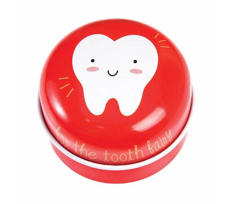 Tandenblikje rood