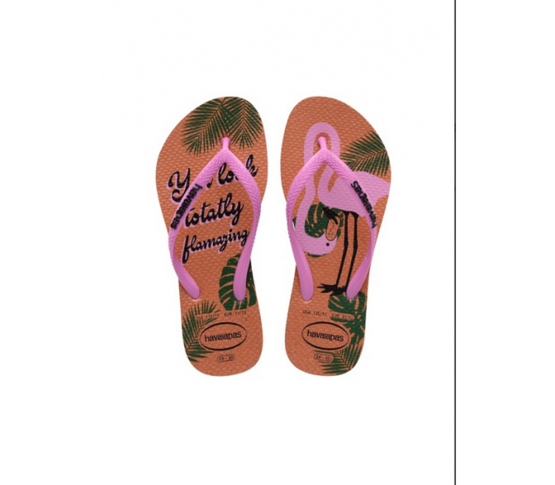Havaianas Kids Slim Glitter Rose Flamingo