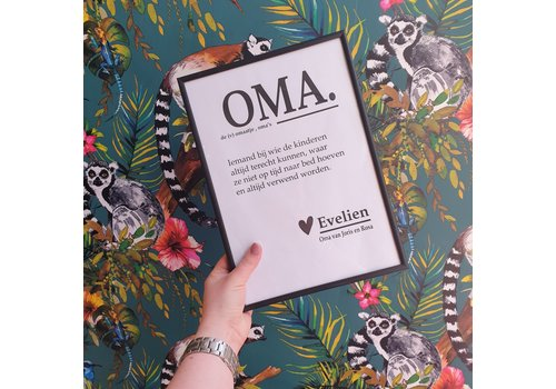 Holy Cow Poster 'oma' inclusief lijst