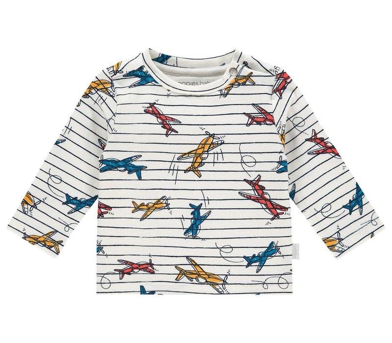 B Regular T-shirt ls Apollo Beach aop Whisper White