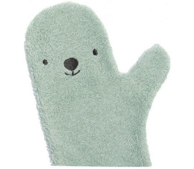 Baby shower glove ijsbeer lichtgroen