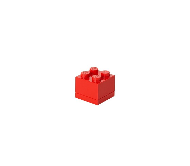 Lego lunchbox mini rood