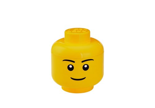 Lego Lego geel opbergbox hoofd