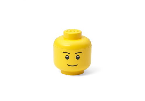 Lego Lego geel opbergbox hoofd mini