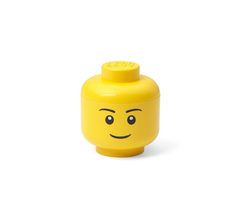 Lego geel opbergbox hoofd mini