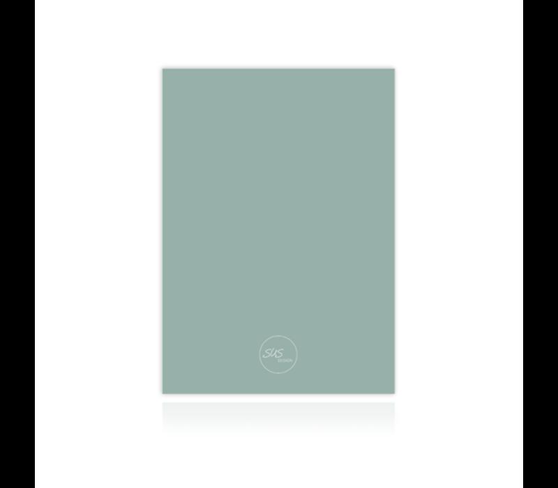 Bewaarbundel geboortekaartjes regenboog mint