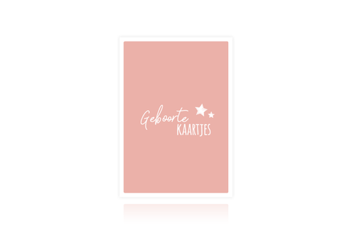SUS design Bewaarbundel geboortekaartjes roze