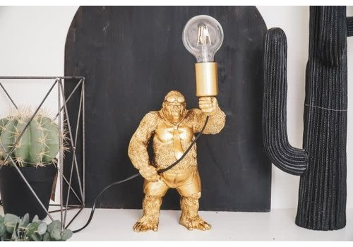 Holy Cow Gorilla Lamp goud