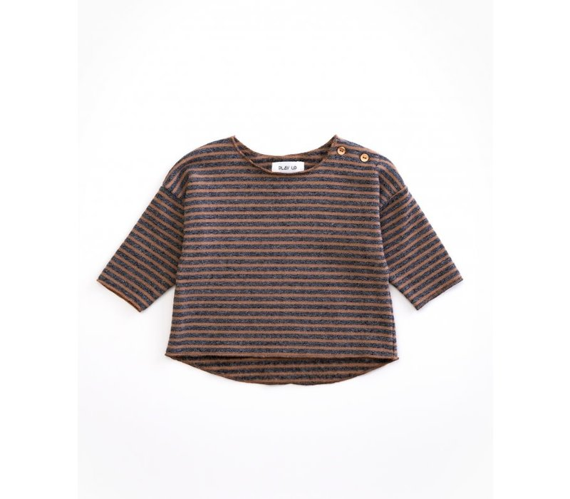 PlayUp Striped Jersey Sweater CHERRY TREE