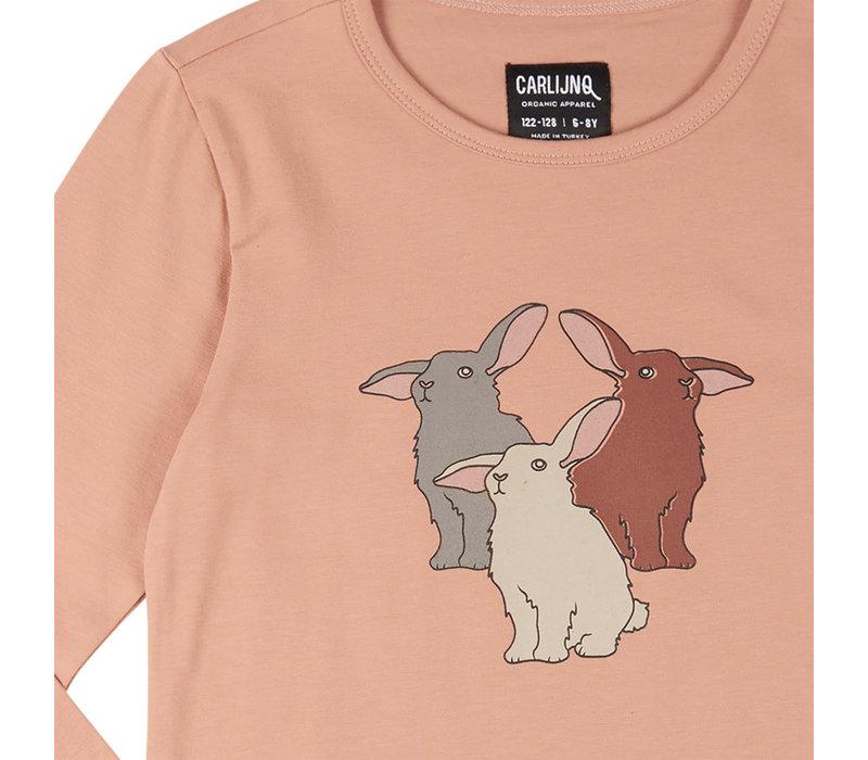 CarlijnQ Rabbits - longsleeve with print