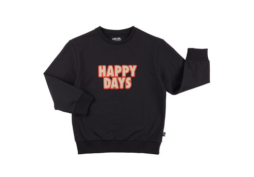 CarlijnQ CarlijnQ Happy days - sweater + embroidery patch