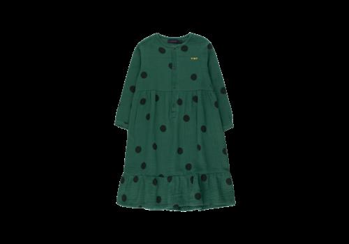 "Tinycottons Tinycottons ""BIG DOTS"" DRESS dark green/black"